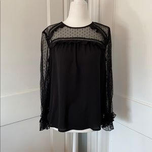 NWT LOFT Long Sleeve Ruffle Blouse. Size MP